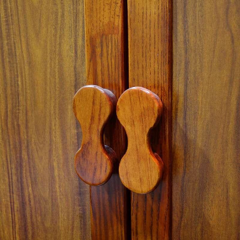 汤美斯家具 乌金木色实木衣柜 简约后现代儿童二门衣柜8391 包邮8391