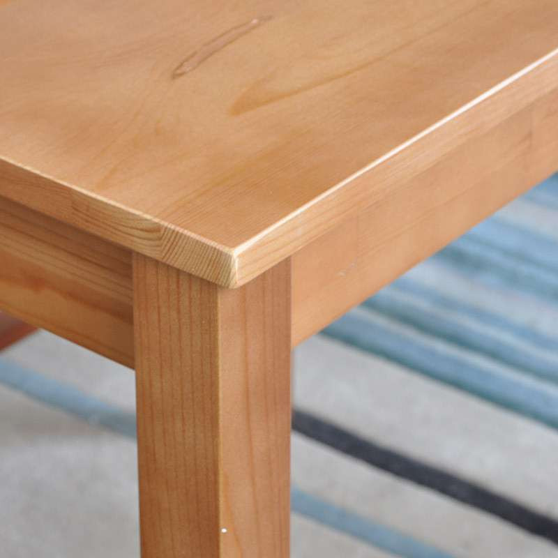 青岛一木实木餐桌 实木餐桌椅组合 胡桃色松木餐桌椅 实木饭桌 一桌六