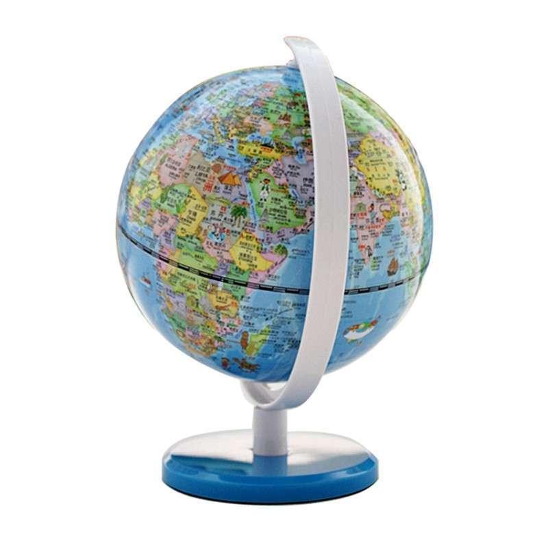 fun地球 5寸(13cm)可爱动物版地球仪-蓝色底座