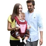 Sunveno/三美婴 三美婴腰凳 新款升级腰凳宝宝抱婴腰凳婴儿背带套装 酒红透气 均码