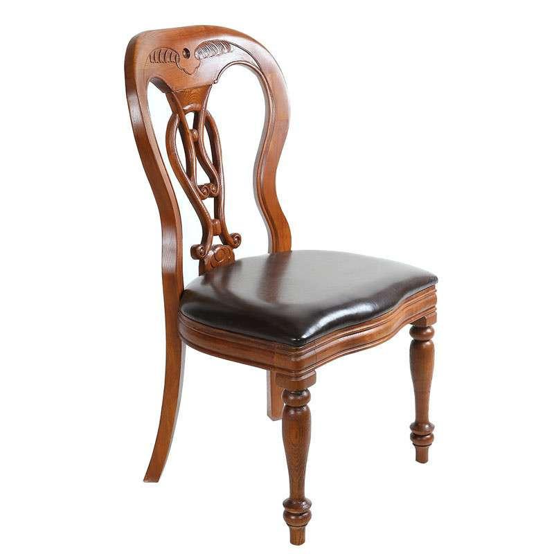 家居】高档橡木 雕花木椅