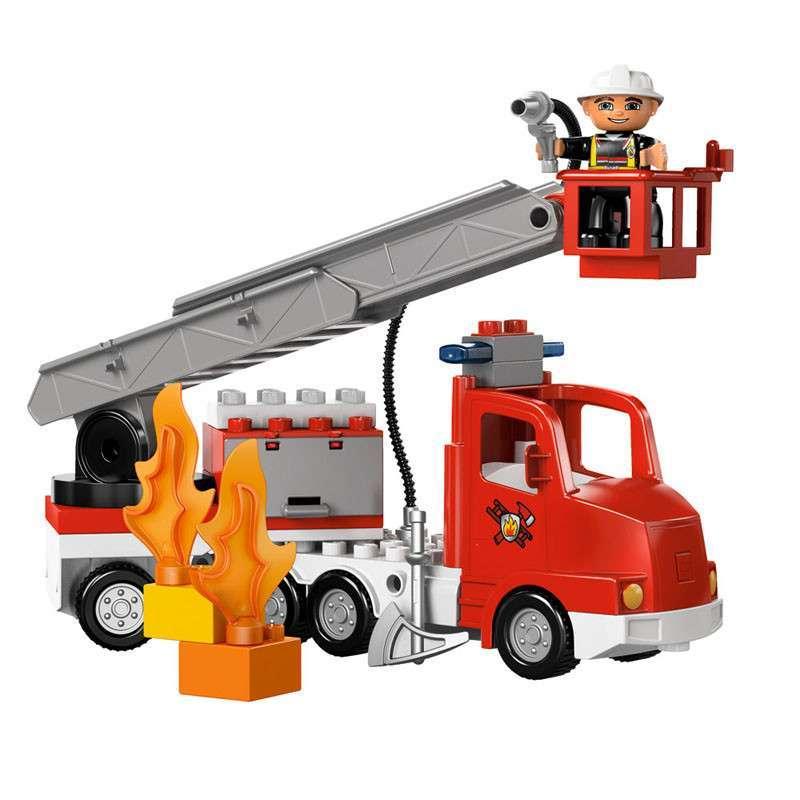 乐高积木消防车拼装图纸步骤