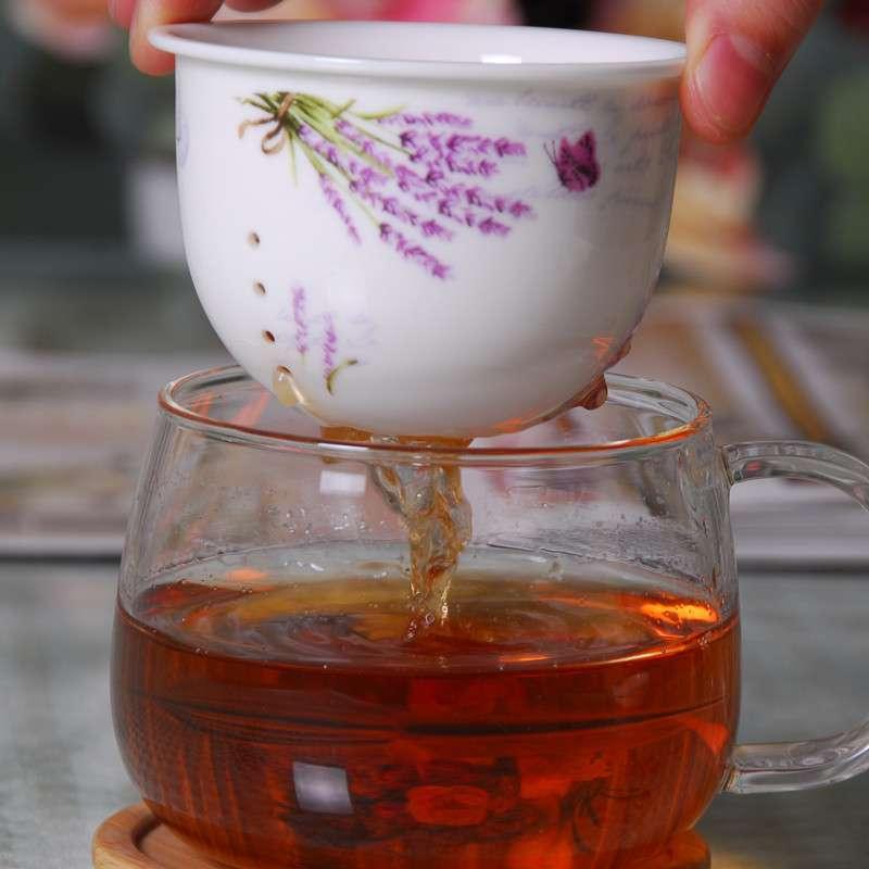 花茶杯办公水杯带木杯垫