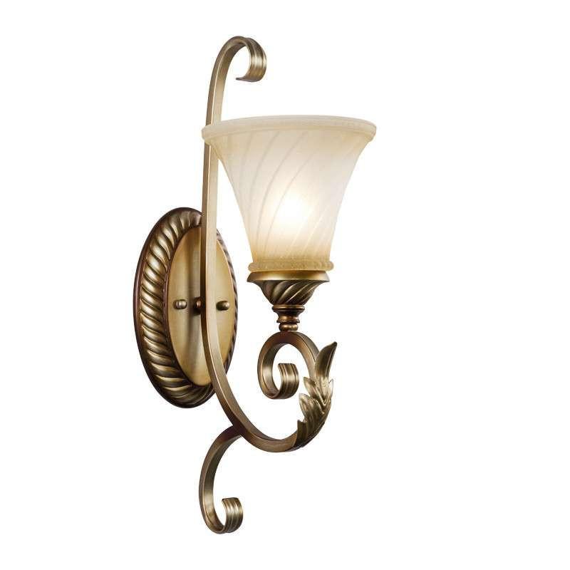 【奥朵灯饰】奥朵 欧式壁灯田园卧室床头灯具客厅