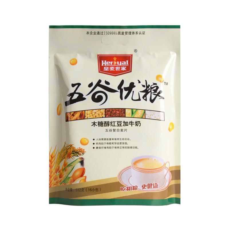 皇麦世家 五谷优粮 木糖醇红豆加牛奶512g 红豆加牛奶