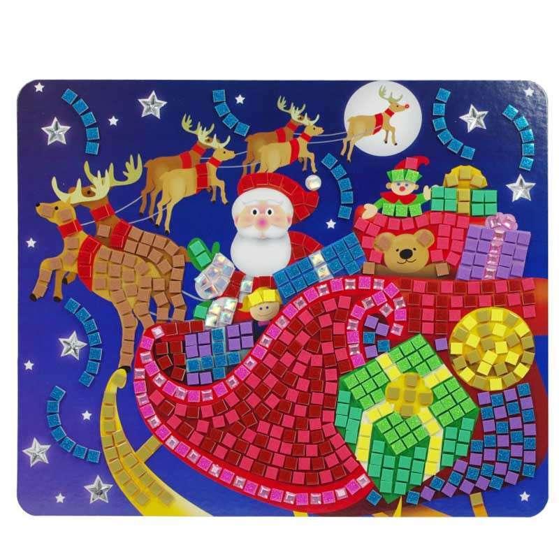 玩具堡正品手工diy圣诞树62736马赛克数字贴片儿童手工益智玩具