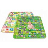 智乐美 环保第二代新款双面儿童爬爬垫(回字形)数字大富翁+水果字母 新款