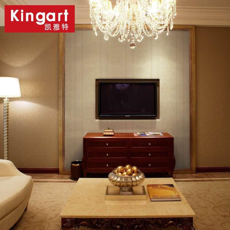 【凯雅特墙纸】凯雅特壁纸欧式古典竖条纹无纺布卧室