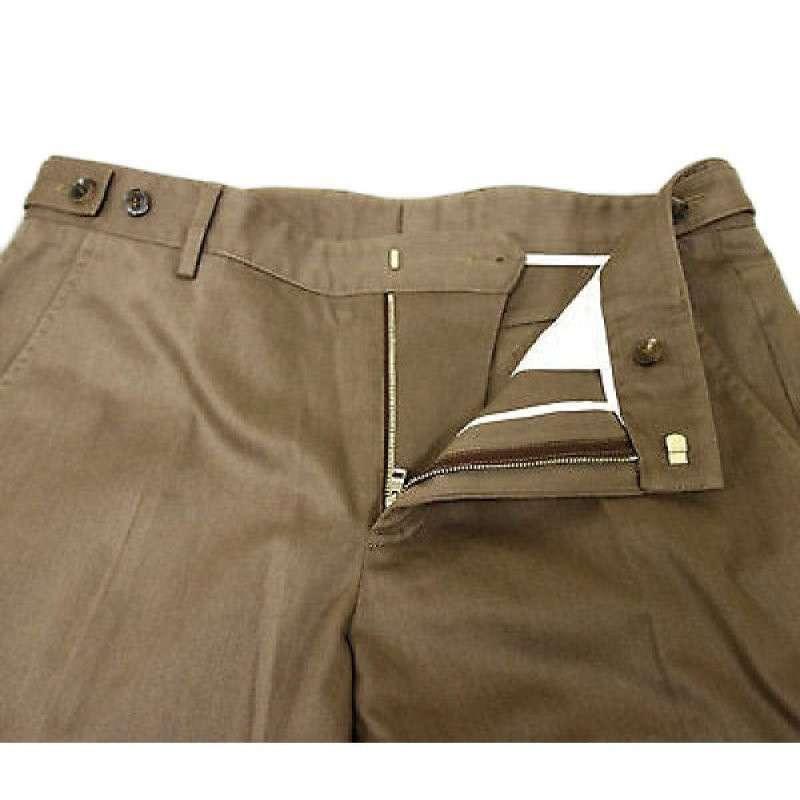 gucci 古驰 男士棕色微喇型纯色休闲裤 32x36码 棕色 其他