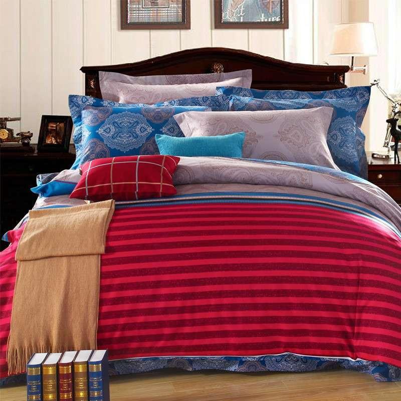斜纹活性印花全棉欧式家居床单式四件套三件套 民族风系列 北欧情调
