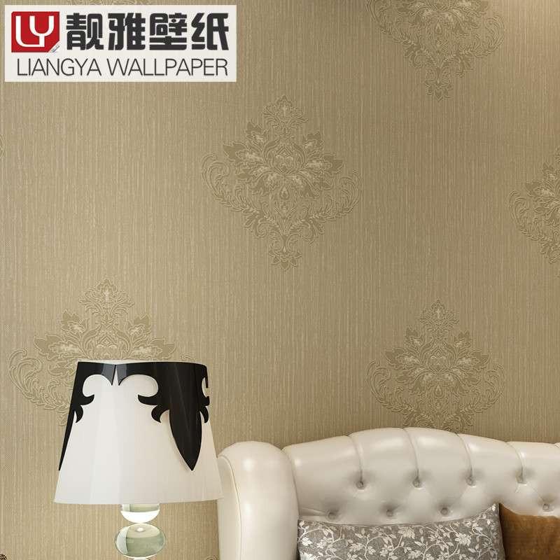 欧式客厅墙纸满贴