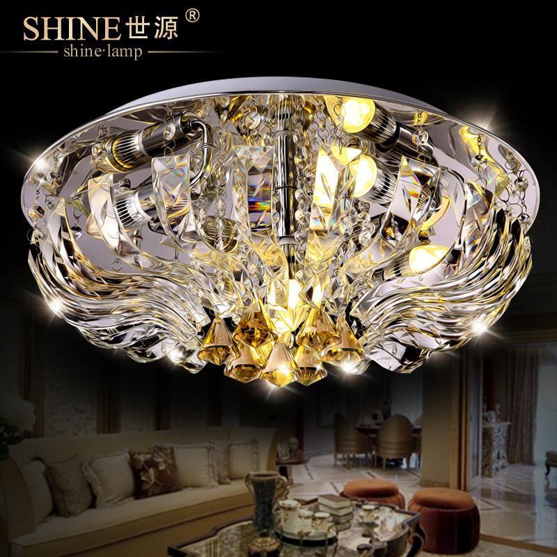 世源水晶天鹅湖奢华水晶灯欧式吸顶灯饰现代50cm超大客厅灯卧室灯1593