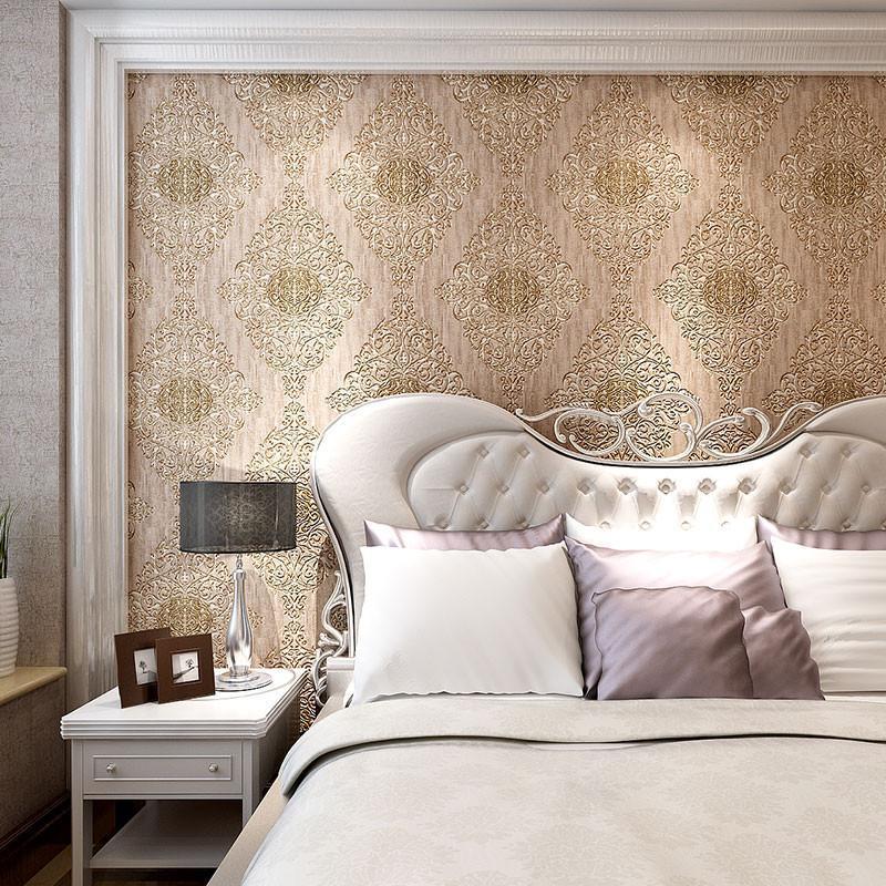 米素欧式墙纸 卧室客厅电视背景墙壁纸 复古壁纸 立体奢华 君典