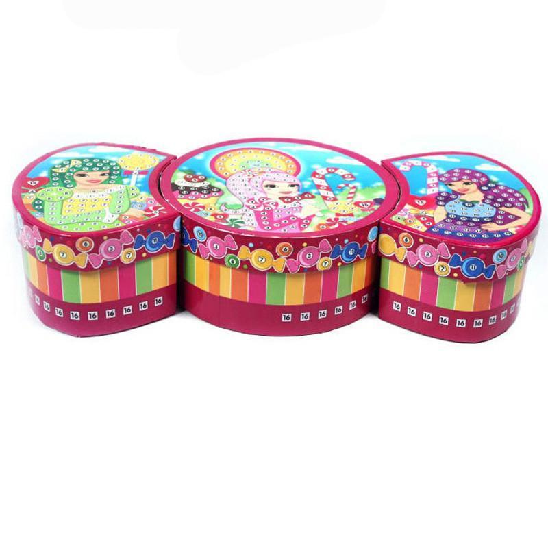 玩具堡 儿童创意diy手工制作 魔法糖果珠宝首饰盒 64556 益智玩具