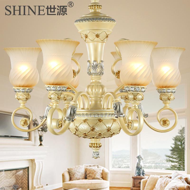 【世源家居】世源高端欧式吊灯奢华树脂餐厅灯卧室灯