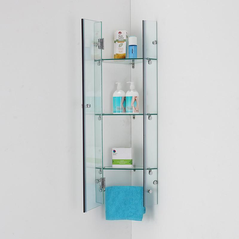 玻璃三层浴室置物架 卫生间三角架