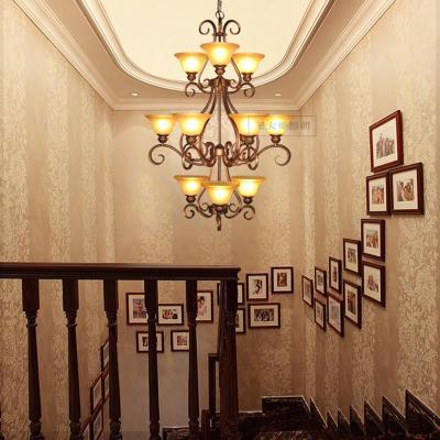 欧式楼梯吊灯复古铁艺