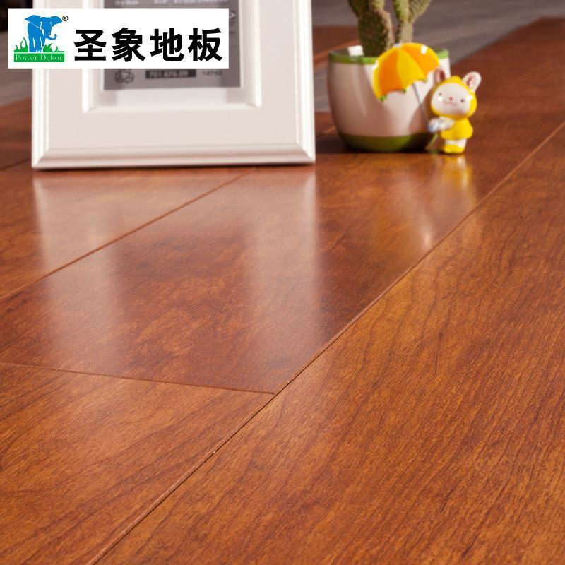 圣象強化復合木地板gt7196夏威夷櫻桃靚面v槽爆款熱銷