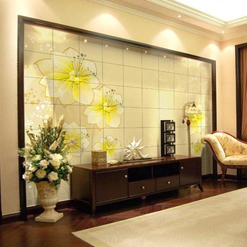 客厅电视背景墙瓷砖壁画