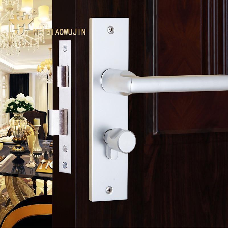 欧式简约不锈钢室内门锁防盗门锁卧室门锁木门移门门