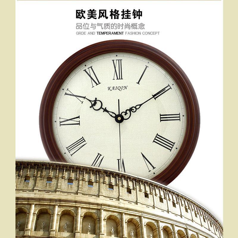 欧式复古时钟 客厅静音挂钟表