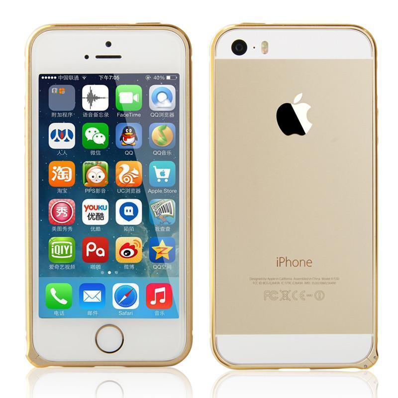 zoyu 苹果5金属边框iphone5s手机边框5s弧形金边超薄手机套外壳新配件