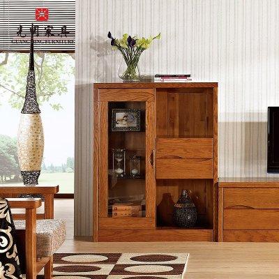 光明家具·福橡金缘 实木电视柜组合