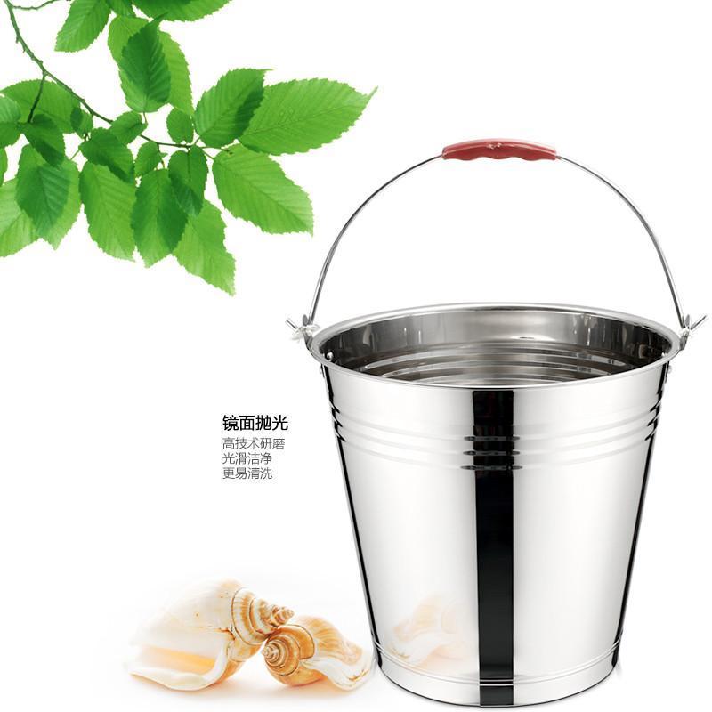 锐友不锈钢手提桶 水桶洗衣洗菜洗车桶 家用大号加厚储水桶 34cm
