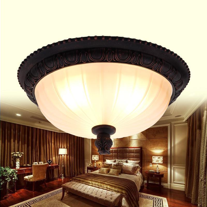 餐厅过道欧式吸顶灯美式灯田园led灯饰卧室阳台灯具