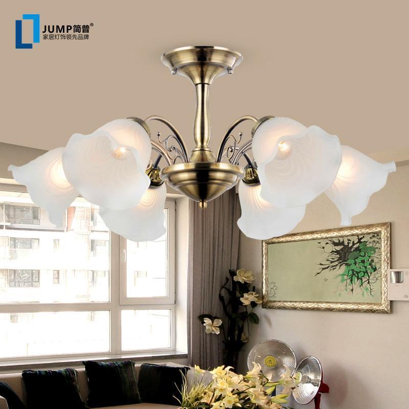 现代家居家装灯具吊灯简约欧式田园吊灯客厅铜led