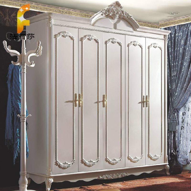 法丽莎家具g1欧式衣柜法式多功能五门大衣柜家具卧室