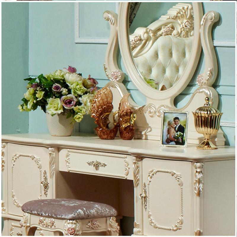 【法丽莎家居】法丽莎家具g8欧式梳妆台实木妆镜梳妆