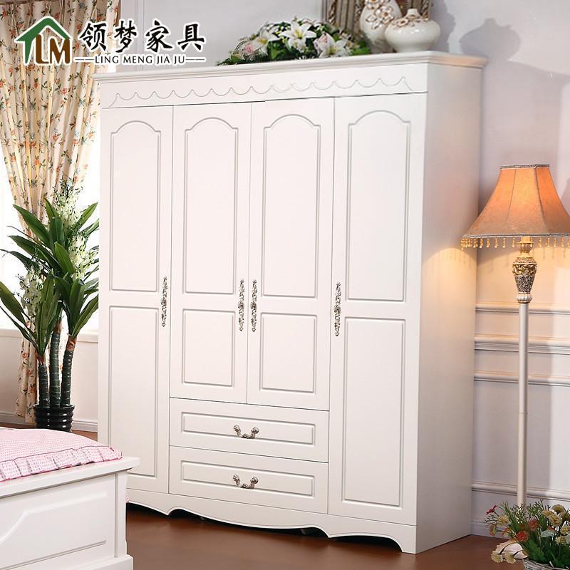 现代欧式衣柜 田园木质衣柜