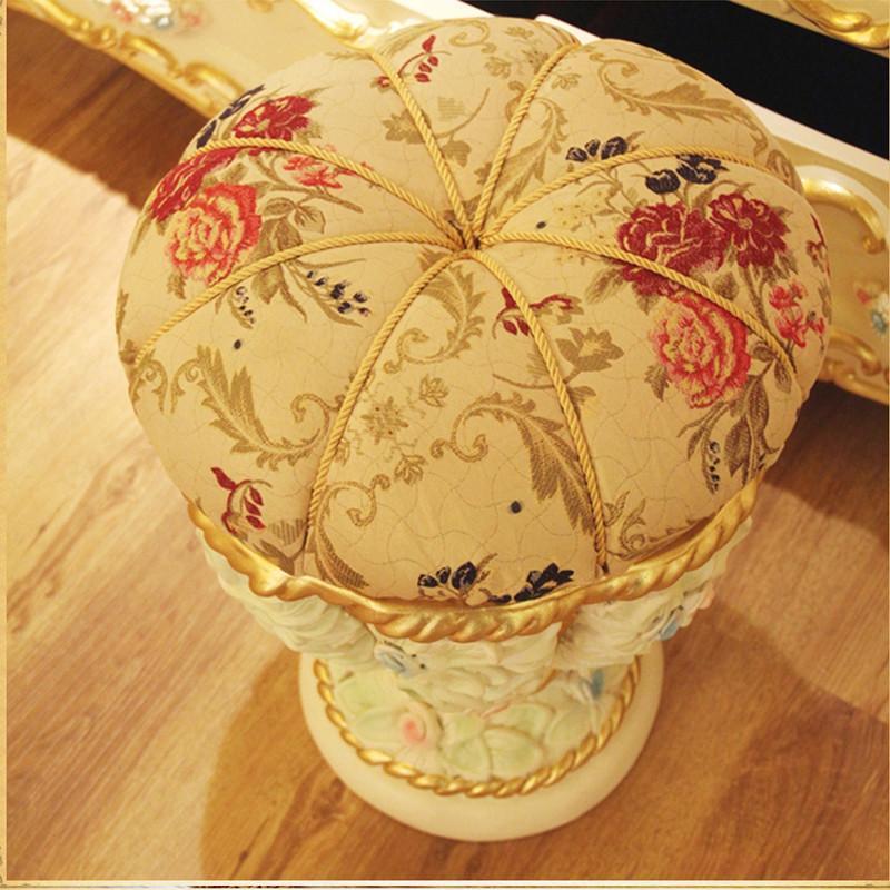 法丽莎家具g3贵族新古典彩绘梳妆凳子欧式圆凳实木梳