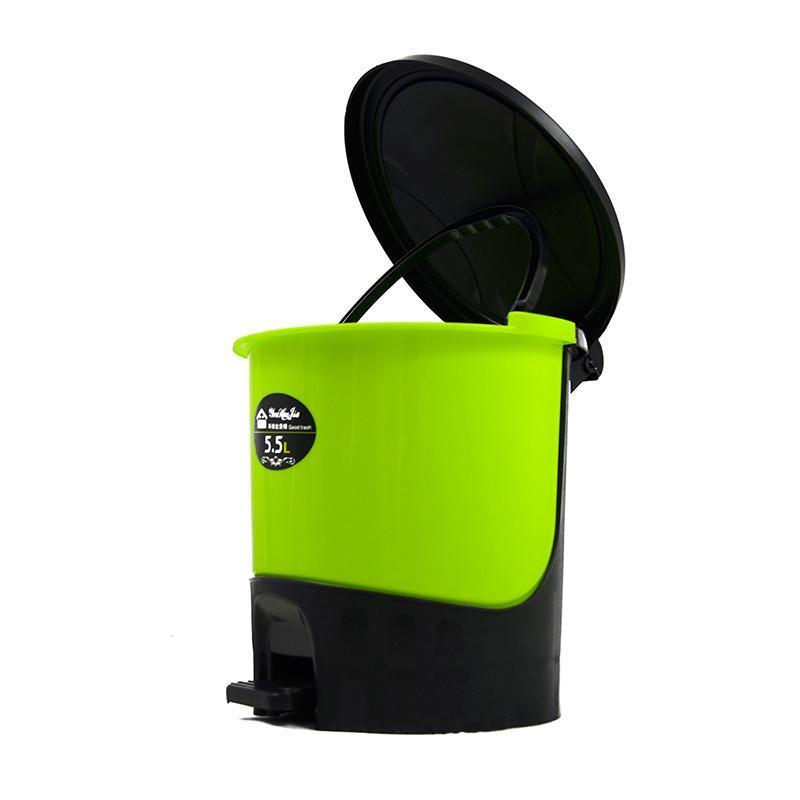 5l脚踏式可手提带盖垃圾桶厨房杂物桶