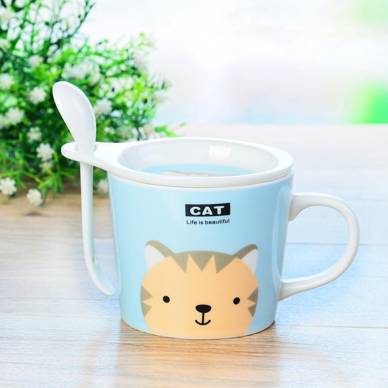 瑾瑜御瓷 景德镇陶瓷水杯 可爱杯 陶瓷简约创意便携 大容量马克杯