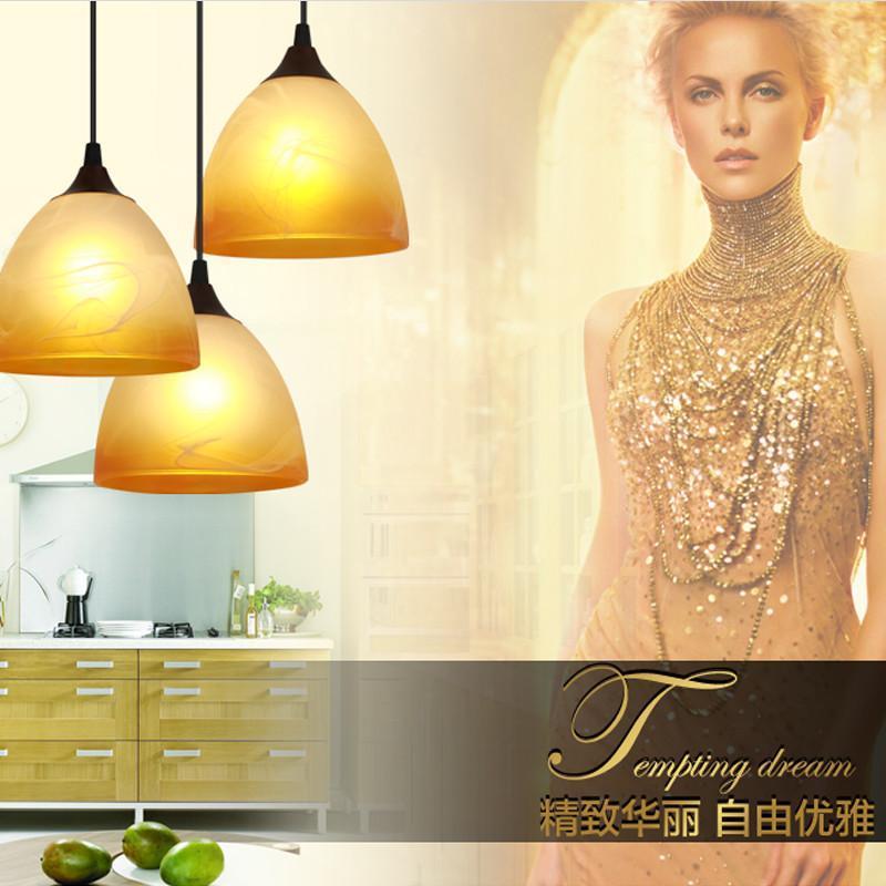 欧式吊灯 现代简约led餐厅吊灯 过道灯具吧台吊灯门厅灯 店铺装修灯饰