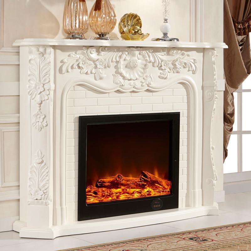 5米欧式壁炉装饰柜 美式电视柜 实木壁炉架 真火电壁炉芯 bl69 套餐六