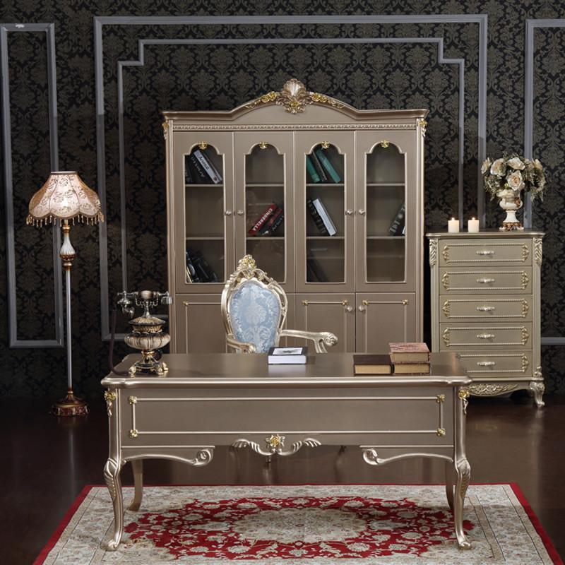【法丽莎家居】法丽莎家具y1欧式香书桌实木烤漆电脑
