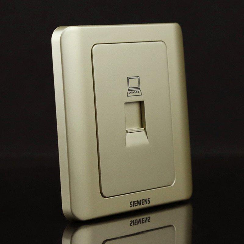西门子开关面板西门子开关插座远景系列金棕一位电脑