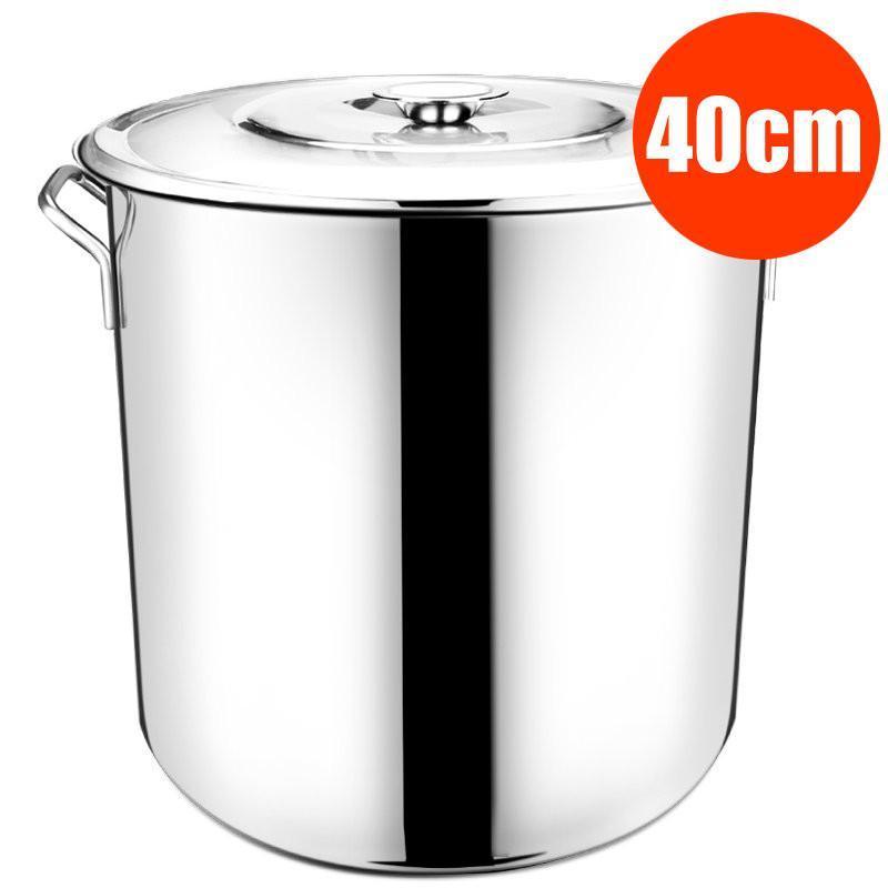 40cm加厚加深汤桶不锈钢大容量汤锅商用带盖