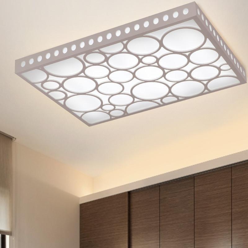 现代简约创意长方形卧室灯中式客厅灯大气田园温馨调