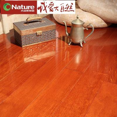 大自然地板 实木 番龙眼 木地板 18mm环保 uv平面 均匀稳定d0690p