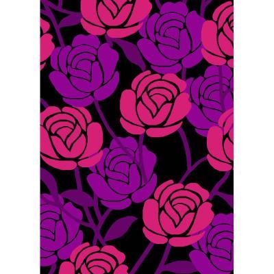 【华德地毯华德地毯】华德紫色梦幻雕花地毯wkmg301