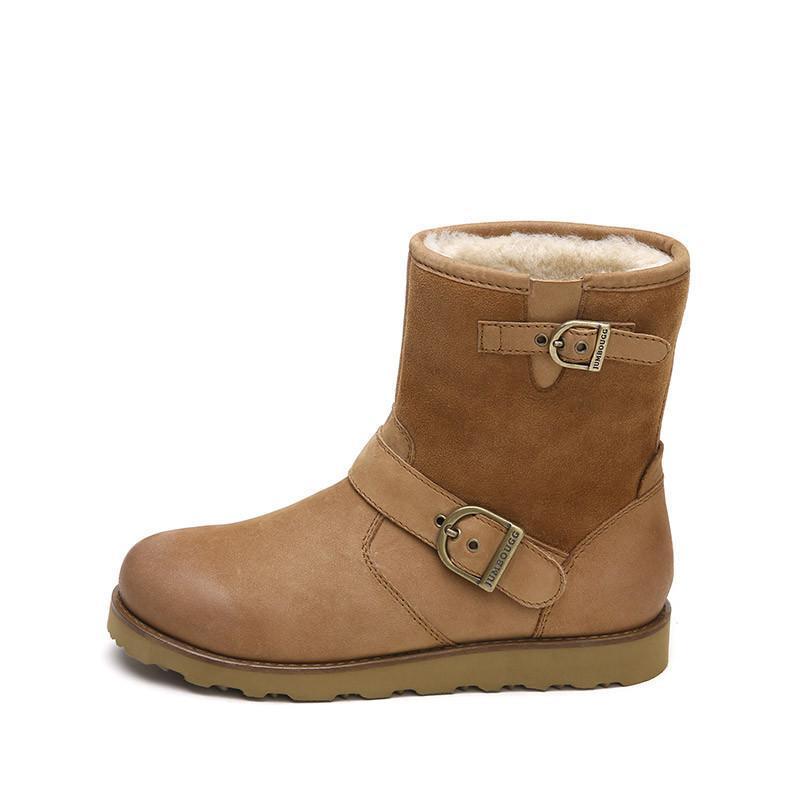 可爱靴子女冬季