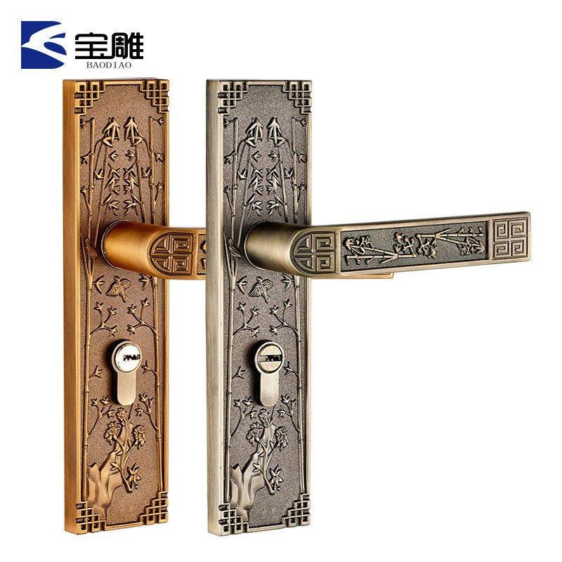 欧式复古中国风室内门锁