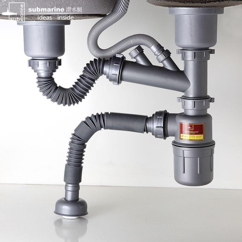 洗菜盆下水管安装图_厨房洗菜盆