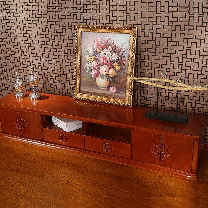 中式实木电视柜 中式客厅实木家具
