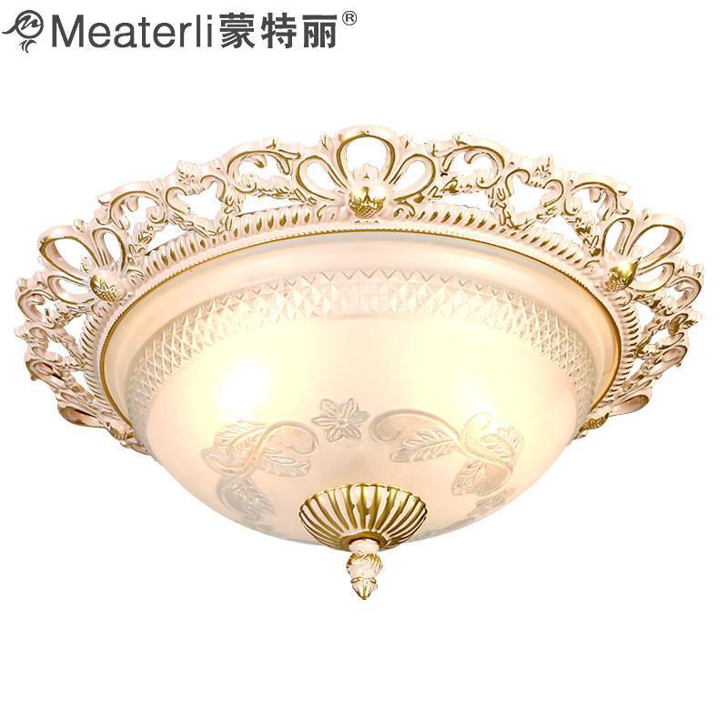 客厅卧室过道阳台吸顶灯欧式复古仿铜锌合金