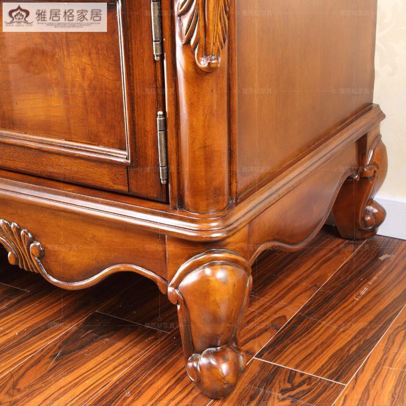 实木雕刻电视机柜子